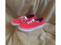Red Vans size 3