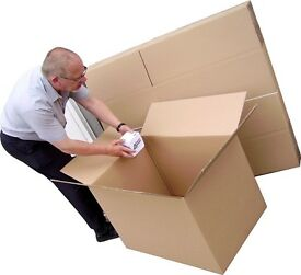 House moving supplies, boxes, bubble wrap, tape, tissue, wrapping paper