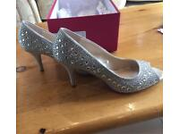 Silver party or wedding shoes