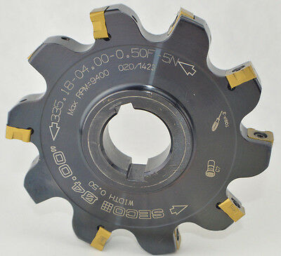 4 Seco Slot Disc Milling Cutter 335.18 04.00 0.50f 5n - Inserts 0.50 12 Wide