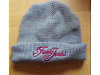 Frosty Jack's Grey Beanie Hat embroidered logo...