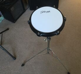 Stagg Drum Practice Pad And Adjustable Stand