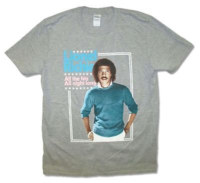 Lionel Richie All The Hits All Night Long Grey T Shirt New
