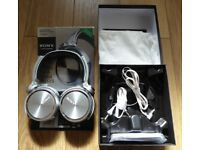 Sony MDR-XB910 Over-Ear Wired Headphones - Silver