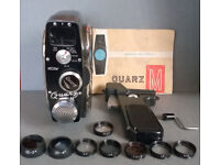 Vintage 1960s Quartz M 8mm Wind Up Cine Camera