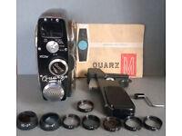 Vintage 1960s Quartz M 8mm Wind Up Cine Camera