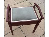 Post Edwardian piano stool with compartment absolute bargain