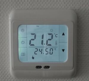 digital thermostat touchscreen raumthermostat 24v. Black Bedroom Furniture Sets. Home Design Ideas