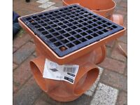 110mm Osma Bottle Gulley & Grid for Underground Drainage. 4D900