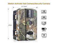 "Trail Camera- 12MP Wildlife 1080P HD Low-Glow,Day/Night Vision, 2.4"" LCD Waterproof + Free 8GB"