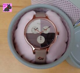 Radley RY2430 Ladies Abbey' Woodland Taupe Leather Chronograph Watch / NEW - RRP: £150