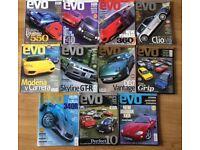 EVO car magazine jan - Dec 1999 (12 issues)