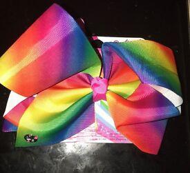 Jojo SIWA large rainbow hair bow new all colours Available