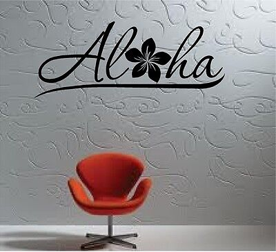 ALOHA FLOWER HIBISCUS HOME DECOR VINYL WALL DECAL STICKER 30+ COLORS  - Hibiscus Home Decor