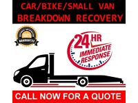 CAR BIKE BREAKDOWN RECOVERY TRANSPORT TOW TRUCK SERVICES ACCIDENT JUMP STARTS FLAT TYRE AUCTION M25