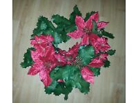 Christmas Wreath Decoration Red & Green