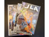 Grab bag of 4 collectible comic books. (JLA/D.C. Comics)