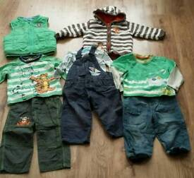 Boys dungarees, jumper & clothing sets age 12-18 mths