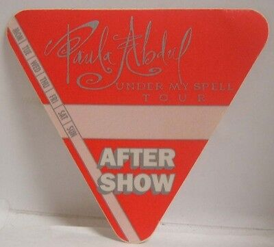 PAULA ABDUL - ORIGINAL CONCERT TOUR CLOTH BACKSTAGE PASS ***LAST ONE***