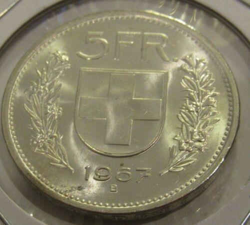 1967 Swiss 5 Francs 83.5% Silver Coin - Switzerland