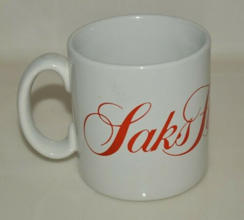 NYC Vintage Saks Fifth Avenue High End Coffee Mug Rare MINTY England John Buck