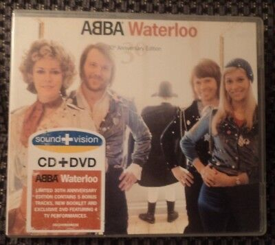 RARE Deluxe CD & DVD Abba Waterloo 30th Anniversary Ring Ring Agnetha Frida 2004