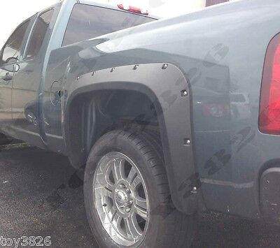Pocket Style Fender Flares FOR 07-13 Chevy Silverado EXTENDED / STANDARD Cab