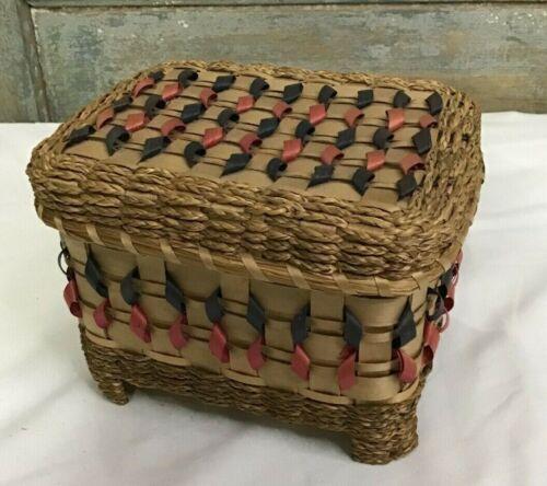 Cherokee Indian Basket of White Oak Braded Sweet Grass Agnes Welch