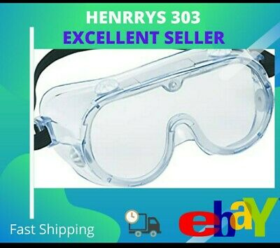 3M Chemical Splash Impact Anti-Fog Clear Safety Goggles 91252 Fast Free Shipping