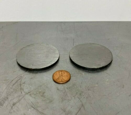 "1/8"" Steel Plate, Disc Shaped, 2"" Diameter, A36 Steel, Round, Circle 2 PC LOT"