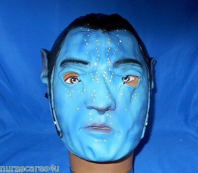 AVATAR JAKE SULLY BLUE RUBBER HALLOWEEN CHARACTER  MASK FROM MOVIES CHILDREN