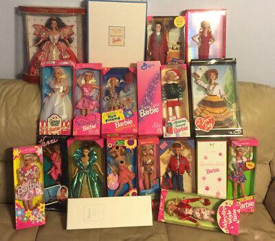 Lot 20 Barbie Dolls Lingerie Lucy Holiday Valentine Harpest Angel + 3 Free Barbi