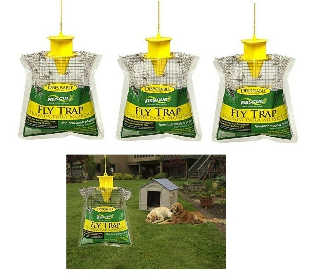 RESCUE! Non-Toxic Disposable Fly Trap, 1 Pack