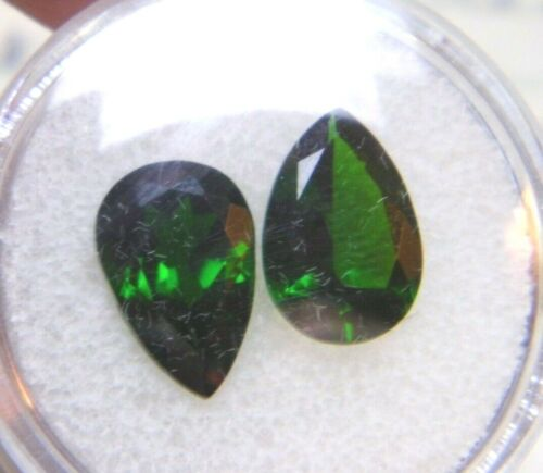 Russian CHROME DIOPSIDE Natural Gemstone Oval, Trillion, Round, Pear Available