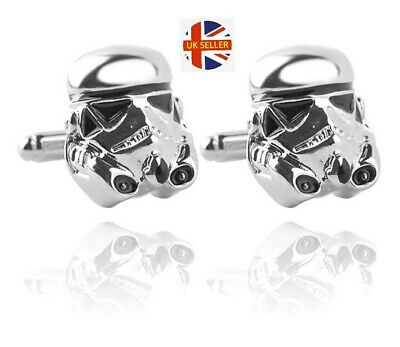 NEW Stormtrooper Cufflinks - Storm Trooper Star Wars Darth Vader JEDI UK