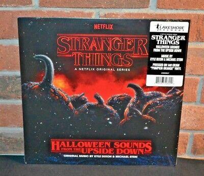 STRANGER THINGS - Halloween Sounds From The Upside Down, Ltd ORANGE VINYL LP New