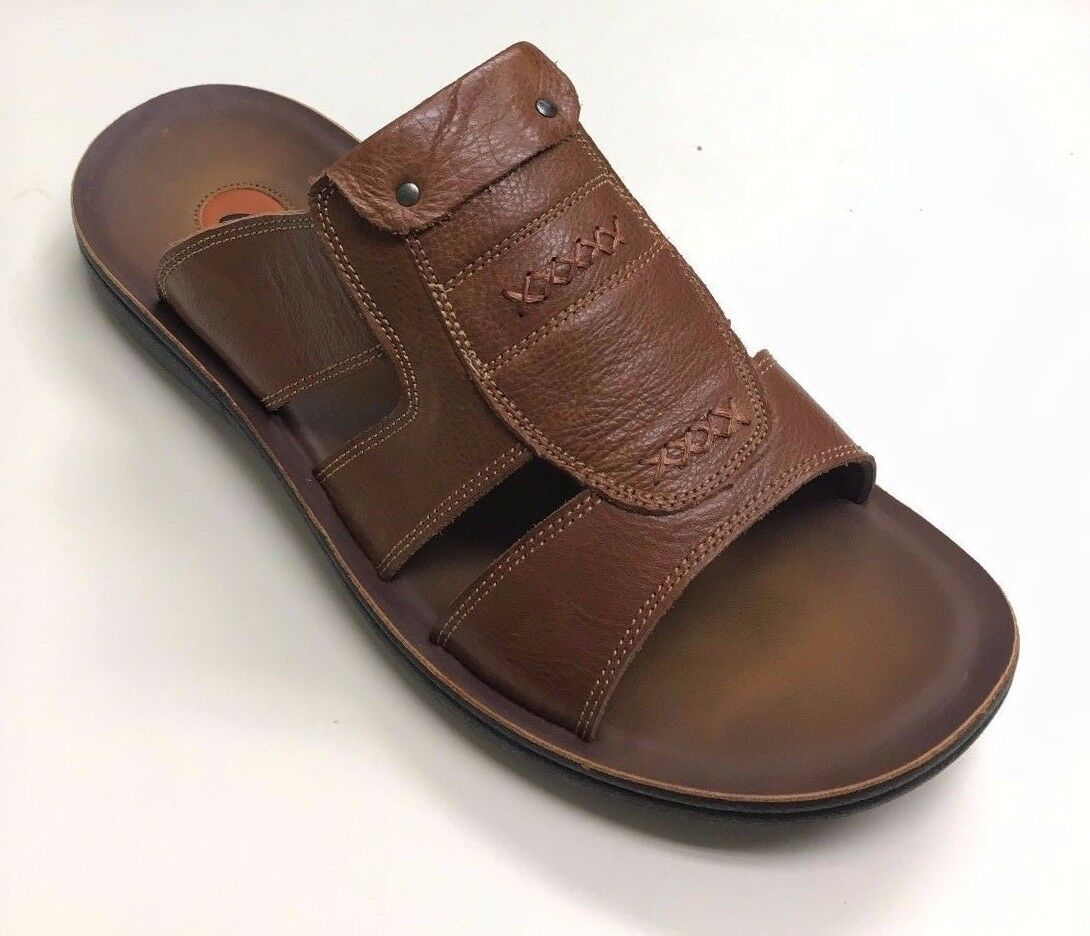 Comforthotics® Class Men's Flip Flop Leather Sandal Orthotic 77-1 (LARGE SIZES)