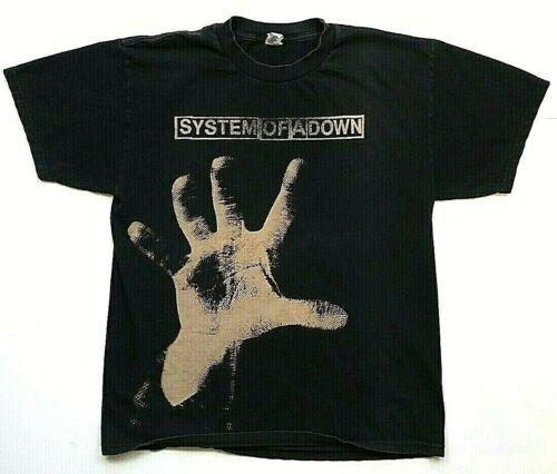 VTG System Of A Down Self Titled Album T Shirt Large Medium Hand Nu Metal Rock