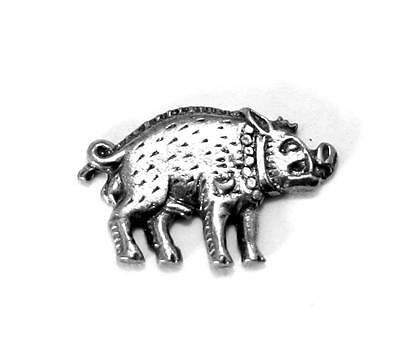 Richard III Boar Pin Badge in Fine English Pewter, Handmade (wa)