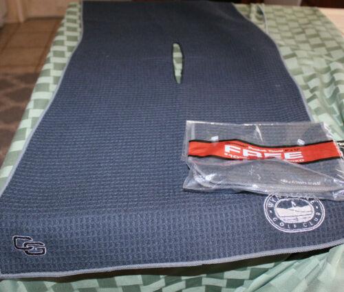 "Club Glove Caddy Towel W/Pocket Towel  17x40"" Colors,Black,Red,Cream,Gray,Blue"