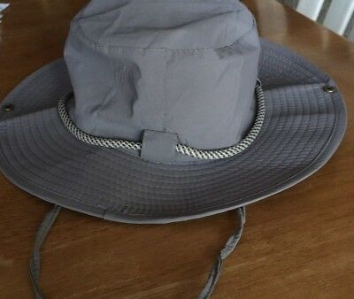 6a58f88becf3a Travellers Durable Bucket Sun Hat Hiking Fishing Travel Cap Wide Brim