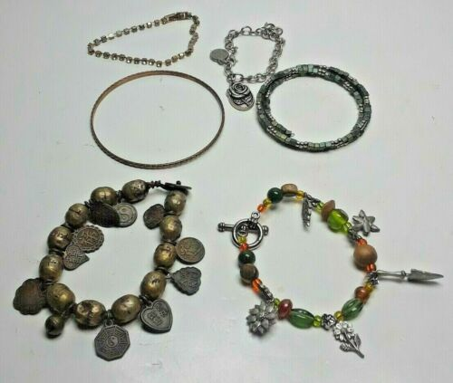 6 Vintages Bracelet Costume Jewelry 65 Roses Collection And Mixed (CC)