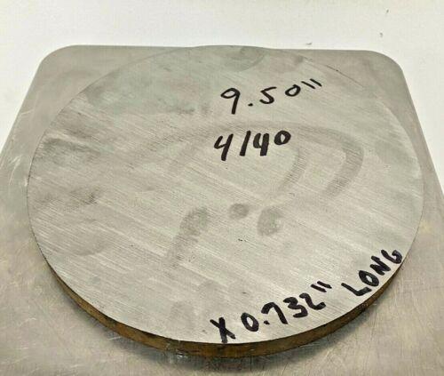 """0.732"""" Steel Plate, Disk, 9-1/2"""" Diameter, 4140 Steel, Round, Circle"""