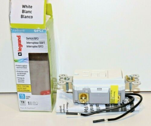 Pass Seymour Radiant 159SWTTRWCCD4 Single Pole Combo 15A WHITE GFCI