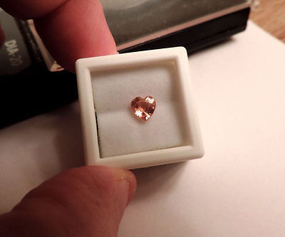 1 Loose Heart Shaped 1.03ct Peach Natural Sapphire. Cut By Me. Very Nice :)