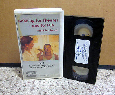 MAKE-UP FOR THEATER instructional VHS hair piece Ellen Dennis illusion - Beauty Makeup For Halloween