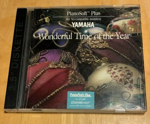"""Wonderful Time Of The Year, Yamaha 3.5"""" disk HD PianoSoft Plus for Disklavier"""