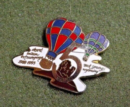 Desert Hot Air Balloon 5 Extravaganza 1988-1993 Rock Springs Wyoming Lapel Pin