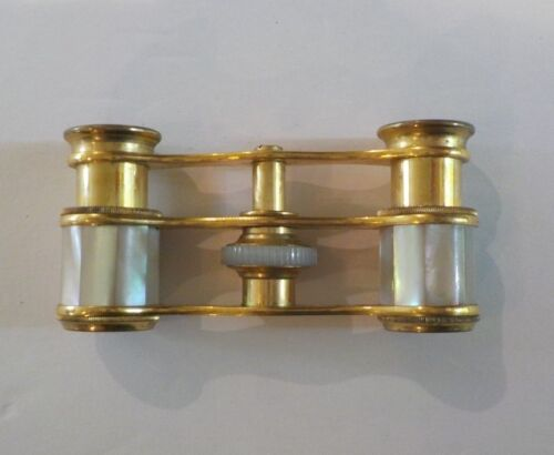 French Brass & Mother-of-Pearl Opera Glasses (#1), G. E. Pryor, Paris