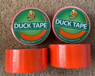 Duck Tape Orange Hunting Blaze New 4 Rolls